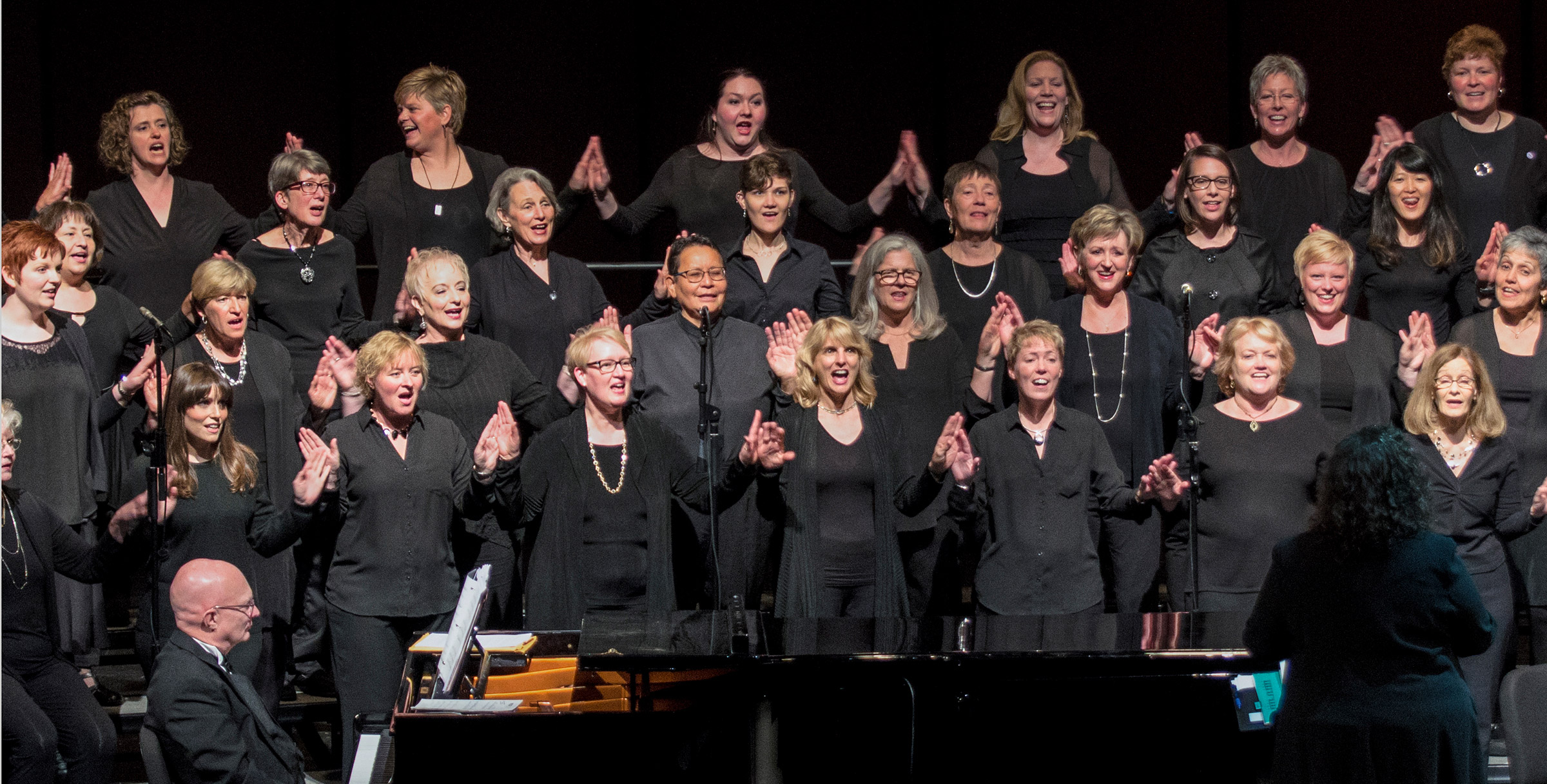 Grand Rapids Women's Chorus giving a performance