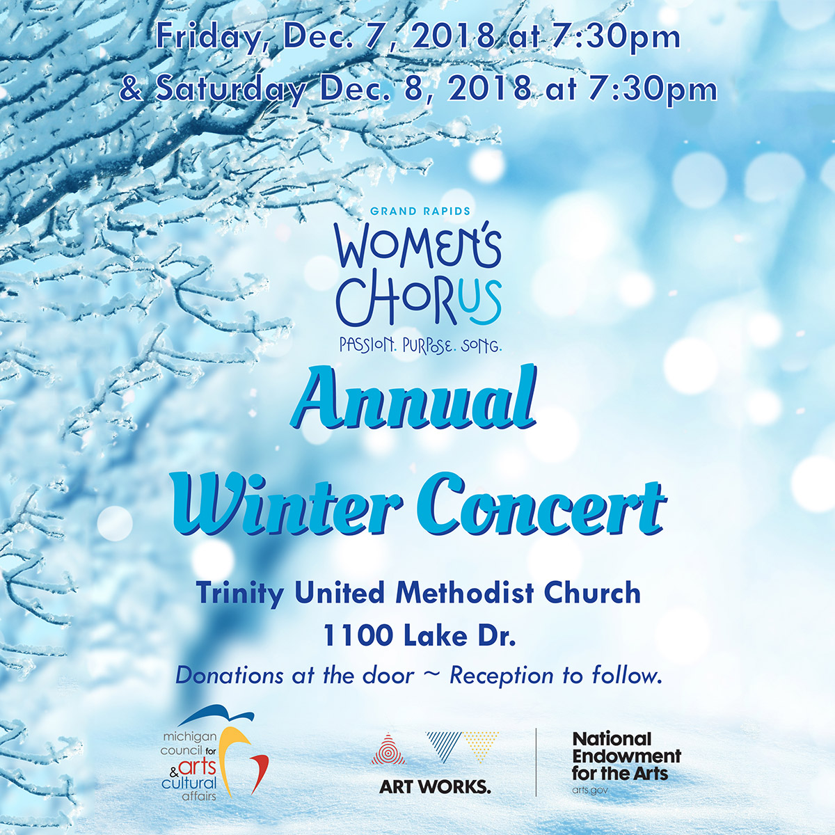 Annual Winter Concert - Sponsored by the Michigan Council for Arts and Cultural Affairs and the National Endowment for the Arts. Location, and details in page copy.